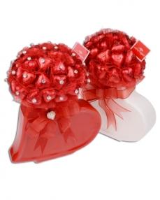 Kırmızı Beyaz Kalp Sevgililer Günü Hediyesi  0