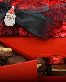 Kırmızı Gül Kapaklı Yılbaşı Çikolatası  1