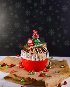 Kırmızı Kase Noel Çikolata  0