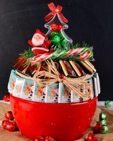 Kırmızı Kase Noel Çikolata  1