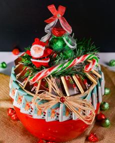Kırmızı Kase Noel Çikolata  2