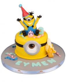 Minnion Karnaval Doğum Günü Pastası  0