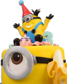 Minnion Karnaval Doğum Günü Pastası  3