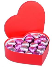 Mor Kalpli Kırmızı Sevgiliye Çikolata Kutusu  1