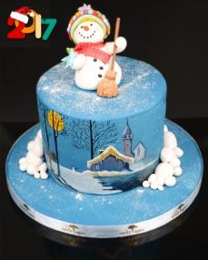 Neşeli Kardan Adam Pastası