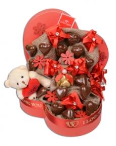 Papatya Sevgiliye Çikolata Kutusu