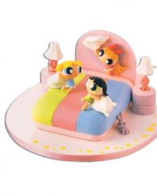 Power Girls Doğum Günü Pastası