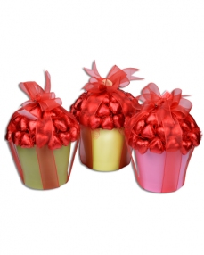 Rengarenk Sevgiliye Çikolata Sepeti
