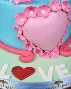 Romantik Prenses Doğum Günü Pastası