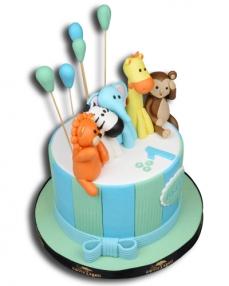 Sevimli Kahramanlar Doğum Günü Pastası  2