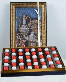 Taş İbrik 48'li Çikolata Kutusu  0