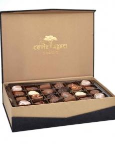 Tay Tüyü Siyah Çikolata Kutusu  1
