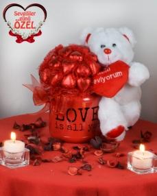 Tek İhtiyacım Aşk Sevgiliye Çikolata  0