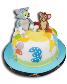 Tom ve Jerry Maceraları Doğum Günü Pastası  0