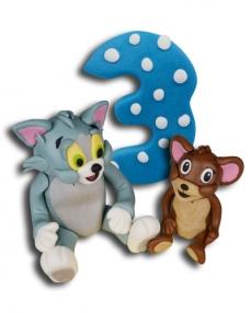 Tom ve Jerry Maceraları Doğum Günü Pastası  2