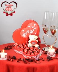 Venüs Sevgiliye Çikolata Sepeti  0