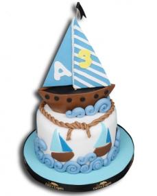 Yelkenli Doğum Günü Pastası  0