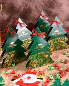 Yeşil Çam Ağacı Yılbaşı Çikolatası  0