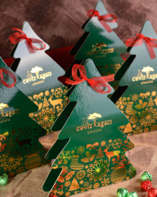 Yeşil Çam Ağacı Yılbaşı Çikolatası  1